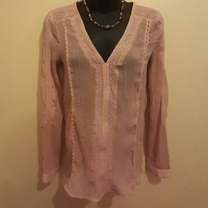 👗3 for $25👚Lucky Brand Dusky Pink Blouse 🇨🇦 XS